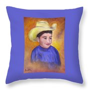 Juan, 16x20, Oil, '07 Throw Pillow