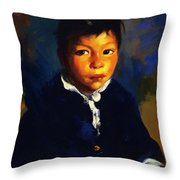 Juanita Also Known As Little Half Breed 1917 Throw Pillow