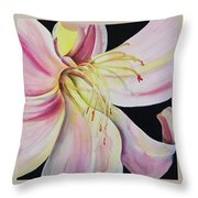 Jubilant Lily Throw Pillow