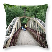 Jubilee Bridge - Matlock Bath Throw Pillow