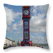Jubilee Clock - Weymouth Throw Pillow