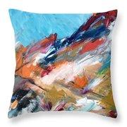 Judean Hill Abstract Throw Pillow