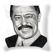 Judge Joe Brown Throw Pillow