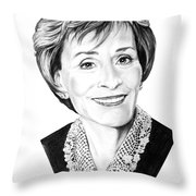 Judge Judith Sheindlin Throw Pillow