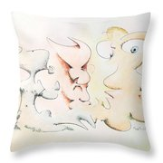 Judging Picasso Throw Pillow