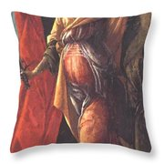 Judith Leaving The Tent Of Holofernes 1500 Throw Pillow