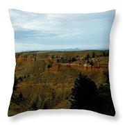 Judith River Cliffs Throw Pillow