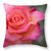 Judys Rose Throw Pillow