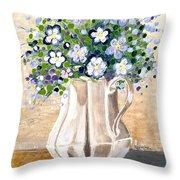 Jug Bouquet Throw Pillow