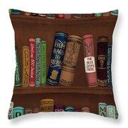 Jugglin' The Books Throw Pillow