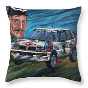 Juha Kankkunen Throw Pillow