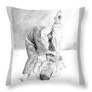 Jiu Jitsu Fundamentals The Armbar Throw Pillow