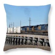 Juice Train Throw Pillow