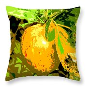 Juicy Apple On A Tree Throw Pillow