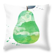 Juicy Pear Throw Pillow