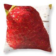 Juicy Strawberries Throw Pillow