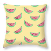 Juicy Watermelon Throw Pillow by Allyson Johnson