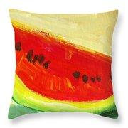 Juicy Watermelon   Kitchen Decor Modern Art Throw Pillow