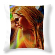 Julee Ross Carbon Girls Throw Pillow