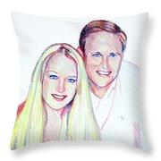 Jules And Tim Throw Pillow