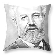 Jules Verne Throw Pillow by Murphy Elliott