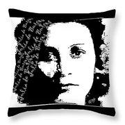 Julia De Burgos 1 Throw Pillow