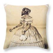 Julia Pastrana, Bearded Lady Throw Pillow