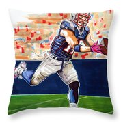 Julian Edelman Throw Pillow