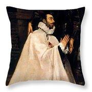 Julian Romero De Las Azanas And His Patron St Julian Throw Pillow