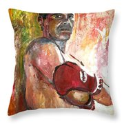 Julio Cesar Chavez Throw Pillow