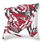 Julio Jones Atlanta Falcons Pixel Art 11 Throw Pillow
