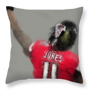 Julio Jones Throw Pillow