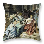 Julius Caesar (100-44 B.c.) Throw Pillow