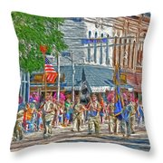July 4th Color Guard Throw Pillow