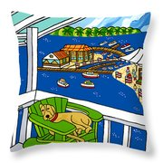 July 4th Snoozer - Cedar Key Throw Pillow