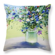July Buquet Throw Pillow