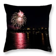July Fireworks Throw Pillow
