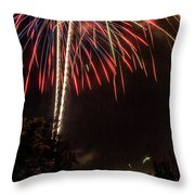 July Fireworks Throw Pillow by Tyson Kinnison
