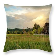 Sunset After Storm Throw Pillow