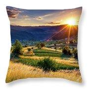 July Sun Throw Pillow