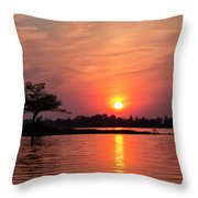 July Sunset At Detroit Point Throw Pillow