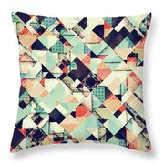 Jumble Of Colors And Texture Throw Pillow