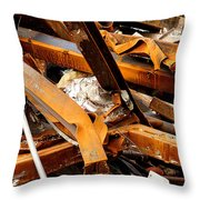 Jumbled Steel Throw Pillow