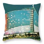 Jumeirah Beach Hotel Throw Pillow