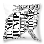 Jump Little Bunnies Jump Throw Pillow