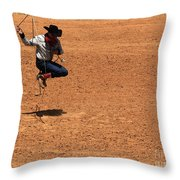 Jump Rope Cowboy Style Throw Pillow