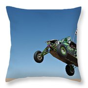 Jumping Hulk Throw Pillow