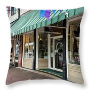 Jumping Mouse In Blue Ridge Throw Pillow