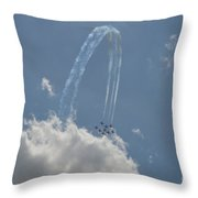 Jumping Over The Clouds Throw Pillow