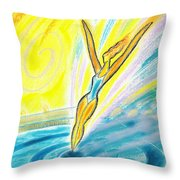 Jumping Right On Target Throw Pillow
